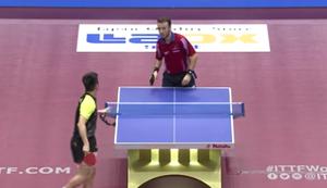 Gef�hlvoller Schlag beim Tischtennis