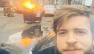 Video mit brennender M�lltonne machen