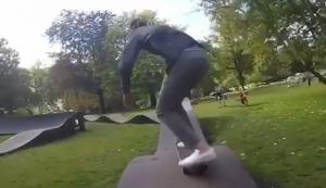 Cooler Skater-Parkour