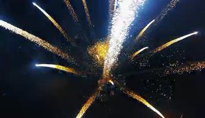 Feuerwerk aus n�chster N�he
