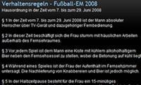 Verhaltensregeln zur Fussball EM 2008
