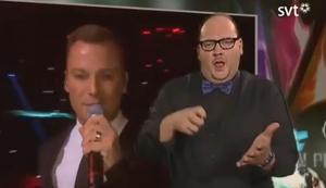 Geb�rdendolmetscher beim Eurovision Song Contest