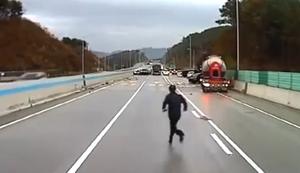Totales Chaos auf der Autobahn