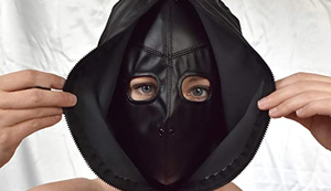 Weiche Kunstleder Maske