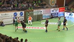 Beim Handball abklatschen