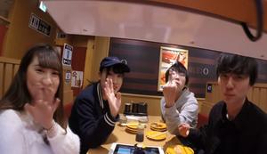 Kamerarundfahrt auf dem Sushi-Band