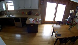 In der Küche turnen