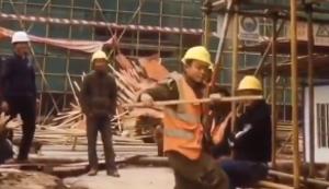 Kleines Tänzchen auf der Baustelle