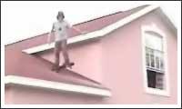 sprung vom dach