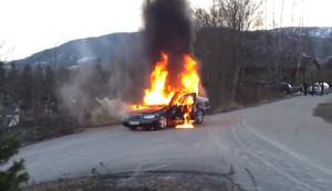 Feuer fl�chtet vor der Feuerwehr