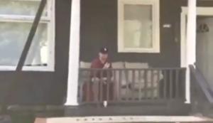 Auf der Veranda entspannen