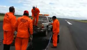 Landebahn flicken in Paraguay