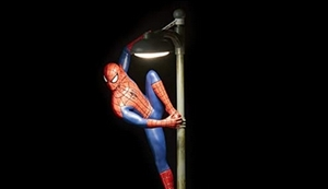 Spiderman Lampe
