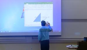 Mathe-Professor und der Fleck
