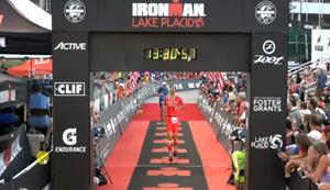 Zieleinlauf beim Ironman