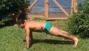 Etwas Sport im Garten machen