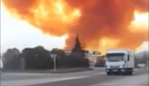 Explosion in Chemiewerk