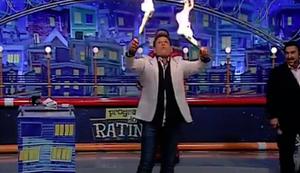 Feuerspucker bei brasilianischer TV-Show