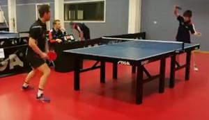 Gute Abwehr beim Tischtennis
