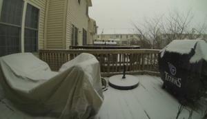 Schneesturm im Zeitraffer