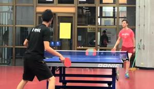 Fiese Bälle beim Tischtennis