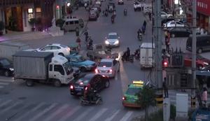 Eine Kreuzung in China