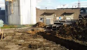 Stromkabel ausgegraben