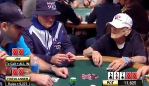 96 Jähriger am Pokertisch