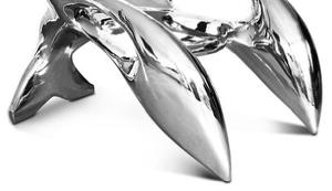 Edelstahl Sessel in Krabben Form