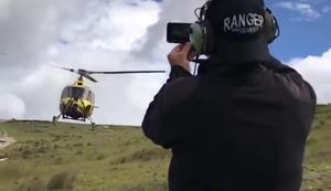 Tiefflug mit dem Hubschrauber