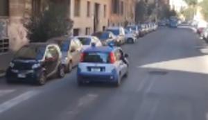 Polizeieskorte in Rom