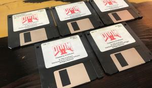 Original-Disketten von Doom 2