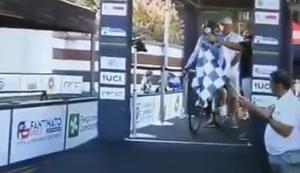 Misslungener Start beim Radrennen