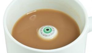 Kaffeebecher mit Auge