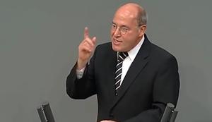 Gregor Gysi droht Wolfgang Sch�uble