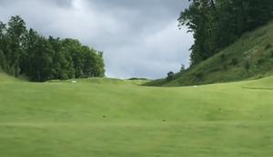 Stunt auf dem Golfplatz