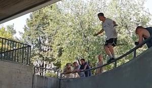 Vom Geländer aufs Geländer