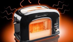Schicker Toaster mit Sichtfenster