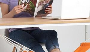 Fußhängematte fürs Büro
