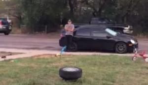 3 Airbags und 1 Reifen