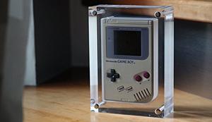 Acrylblock für den Gameboy