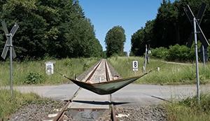 Reise-Hängematte aus Fallschirm-Seide