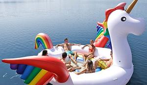 Riesige Einhorn-Party-Insel