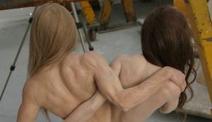 Brangelina Wachs-Skulptur