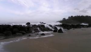 Mal schnell den Strand verlassen