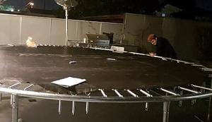 Trampolin aufbauen