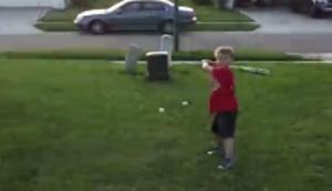 Mit Papa Baseball spielen