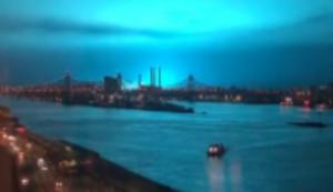 Lichtblitze über New York