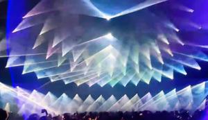 Krasse Lasershow in Belgien