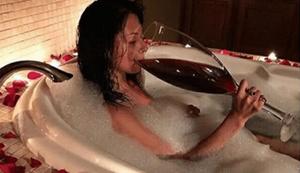 Etwas größeres Rotweinglas